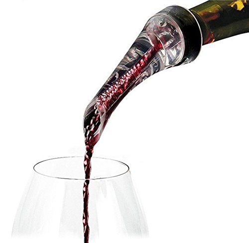 Wine Wand Aerator Prodyne Wine Automatic Wine Aerator with Stainless Steel Stand