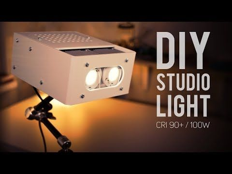 Diy Led Studio Light Super Bright Variable Brightness Lightweight Cri 90 In This Video I Am Making My S Led Studio Lights Diy Studio Lighting Led Diy