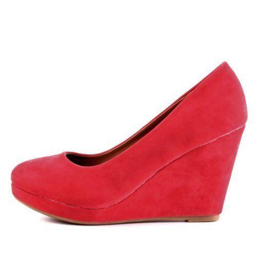 Damen Schuhe, PUMPS, PLATEAU KEIL WEDGES, HP132, Synthetik in hochwertiger Velour Leder Optik, Rosa, Gr 35 - http://on-line-kaufen.de/ital-design/damen-schuhe-pumps-plateau-keil-wedges-hp132-in-gr-5