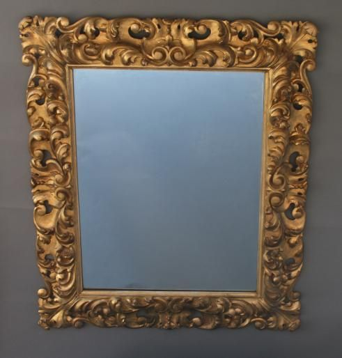 Carved Gilded Wood Italian Mirror