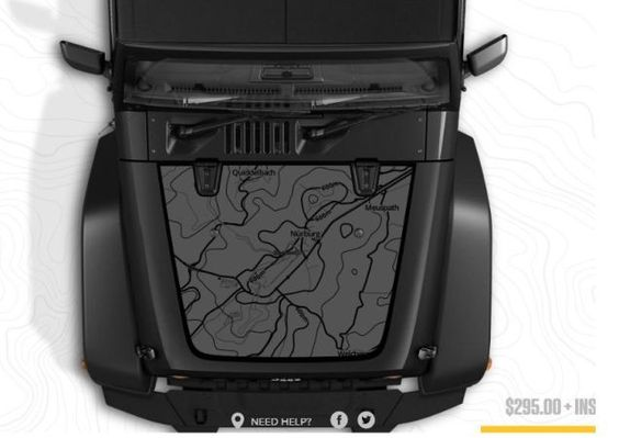 Jeep 'Custom Map Hood Decal' Is A Cheesy Accessory I Love