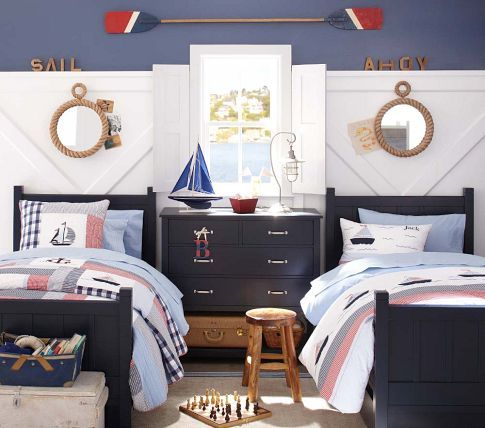 Nautical rope mirror guest rooms round mirrors and rope for Kids room mirror