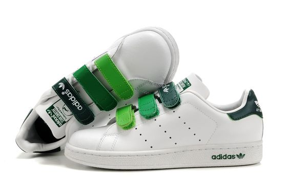 Adidas Stan Smith GS - Chaussure Adidar Pas Cher Pour Femme/Enfant Blanc/Vert