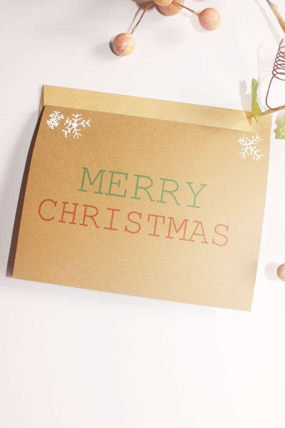 #MerryChristmas Holiday Card #invitations #winter #weddings