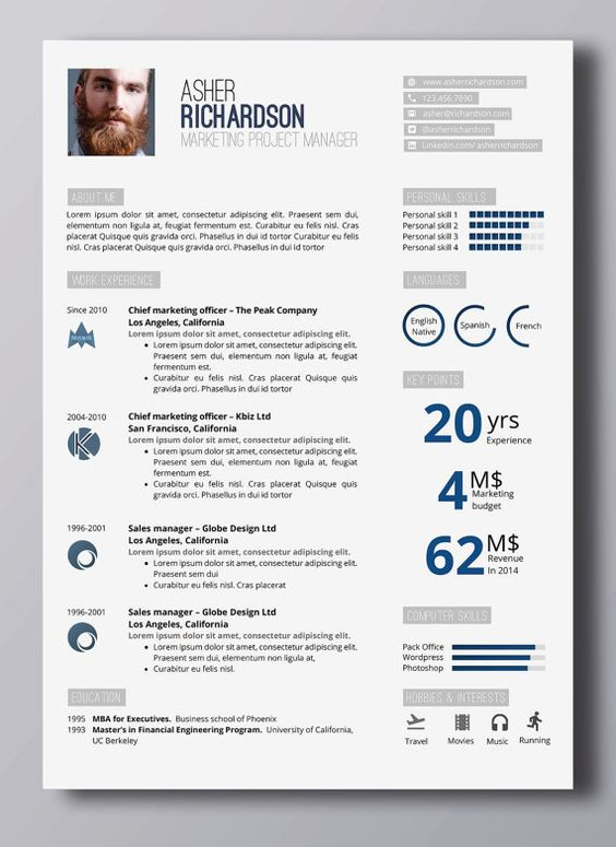Creative cv template 2 page template in word and powerpoint + - financial engineer sample resume