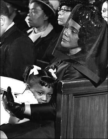 black history - The feelings of a nation rest in this child's eye - The funeral of Dr. Martin Luther King....R)