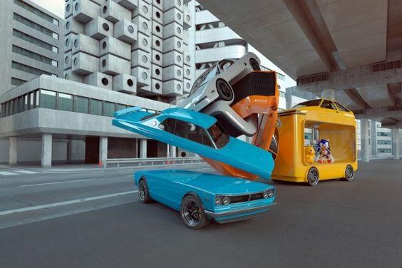 Nous vous avons souvent présenté le travail de Chris Labrooy, artiste et illustrateur britannique, au talent indéniable (voir les articles).  Aujourd'hui, il enrichit son travail baptisé «Auto elastic explorations » avec une série spéciale Japon ayant comme toile de fond la célèbre tour capsule de Kisho Kurokawa. Pour cette série « Tokyo » Chris met en scène des voitures emblématiques nippones comme la Honda NSX, Datsun 240Z, Datsun Skyline GT-R et la Toyota AE86.