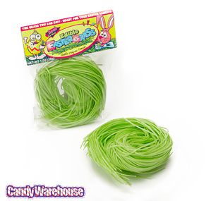 Edible Easter Grass - put it on cupcakes, cookie displays, in candy jars ($5 per ounce from Candy Warehouse)