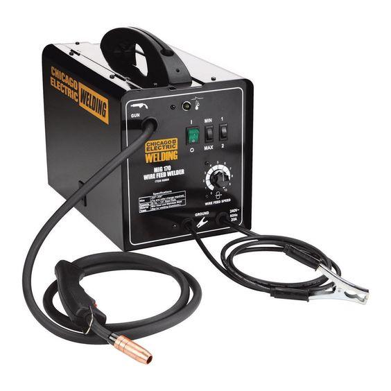 170 Amp Dc 240 Volt Mig Flux Cored Welder Electric Welding Welding Wire Welder