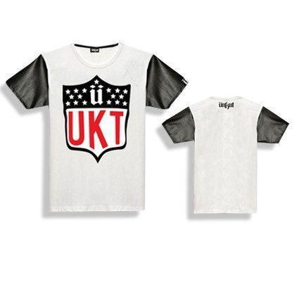 Unkut UKT Leather Sleeve T-Shirt