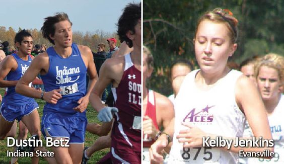 Cross Country Athletes of the Week are Dustin Betz of Indiana State and Kelby Jenkins of Evansville