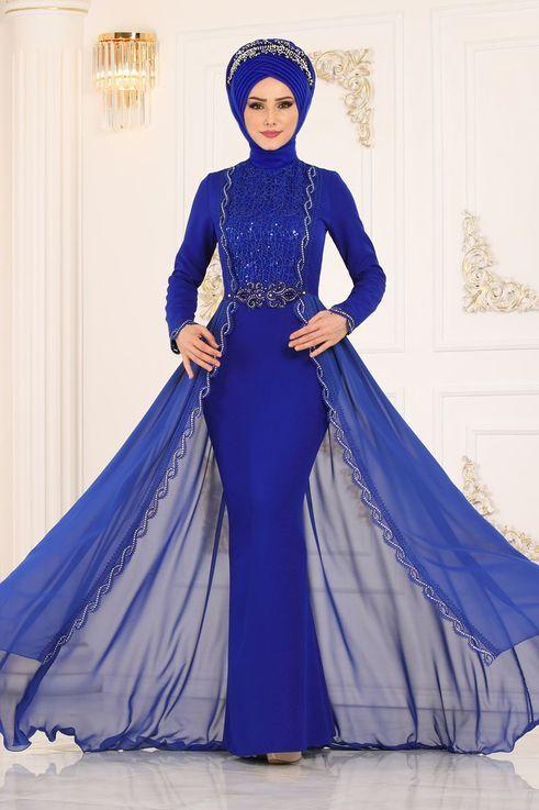 Modaselvim Abiye Sifon Pelerinli Balik Abiye Alm52716 Saks Aksamustu Giysileri The Dress Moda Stilleri