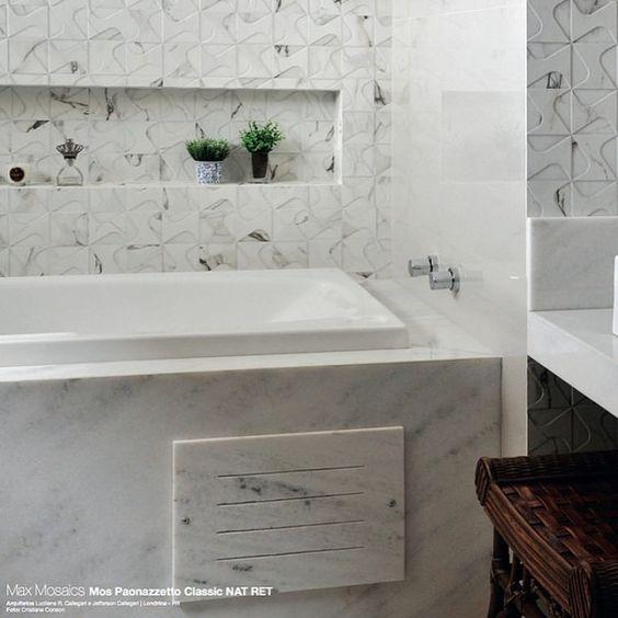 Mosaico Paonazetto Portobello  Banheiros  Pinterest  Portobello -> Decoracao Banheiro Portobello