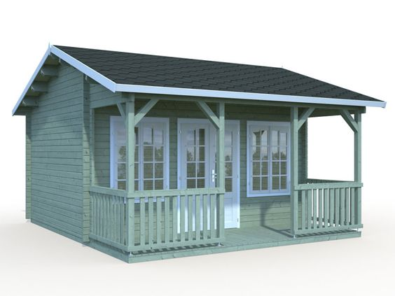 DIY Small Log Cabin Kit Echo Valley, Prefab Wooden Cabin Kit For Sale, Solid