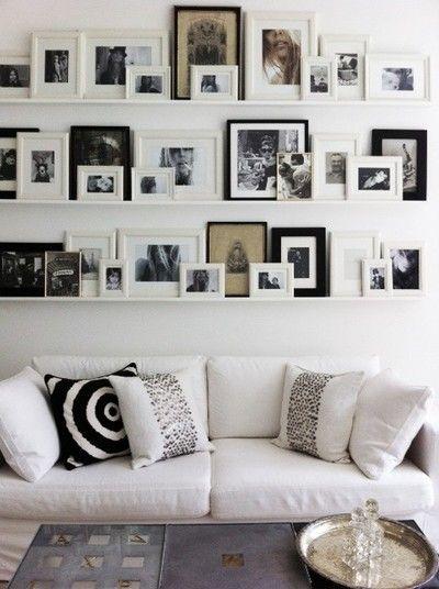 Billeder på hylder