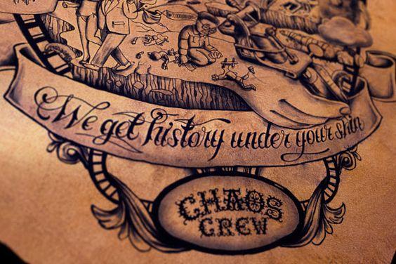 Era uma ação para divulgar os serviços de um estúdio de tatuagem alemão, mas acabou virando uma obra de arte feita com pele e tinta.