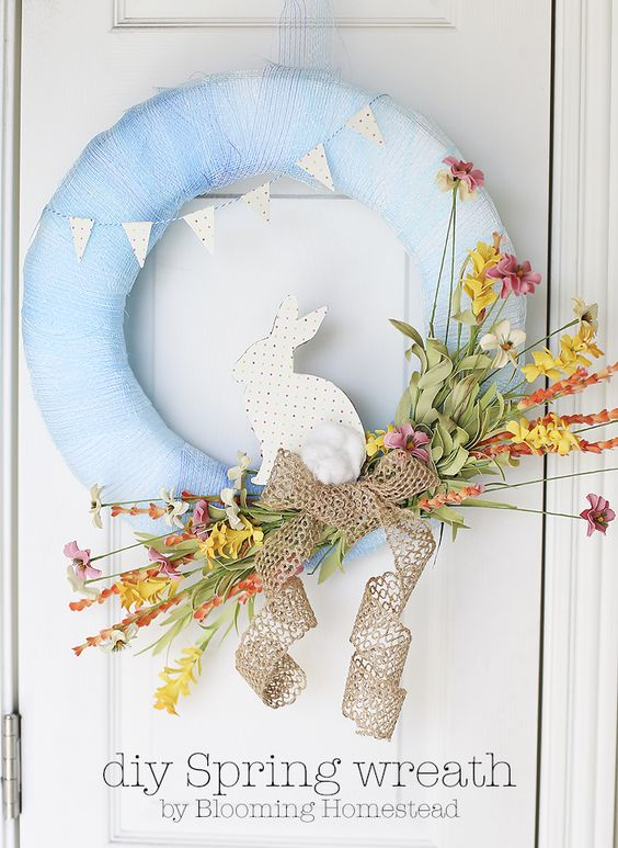Easy DIY Spring Wreath tutorial: