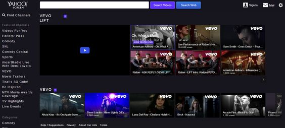 Yahoo! amplia acuerdo con Vevo para competir con YouTube http://ow.ly/vMpv8 #Tecnología