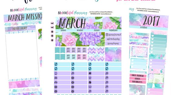 Free Printables – BEaYOUtiful Planning