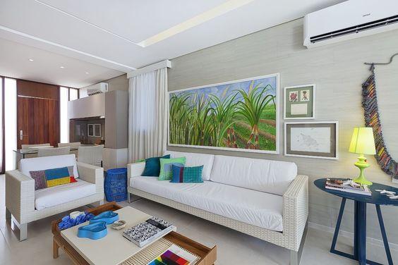 Sala de estar #casadepraia #living Santos & Santos Arquitetura