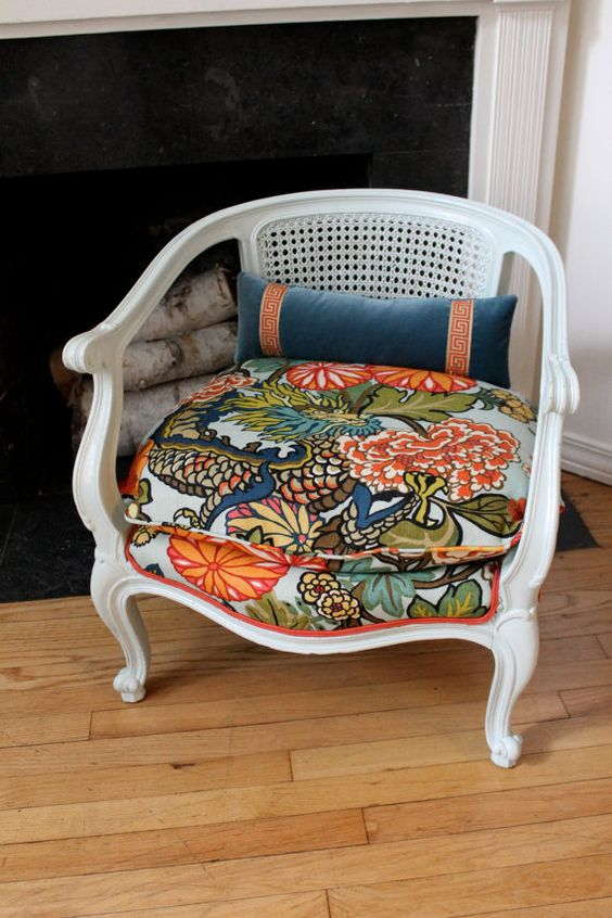 not bad....pattern on seat and matching solid colors on the back.