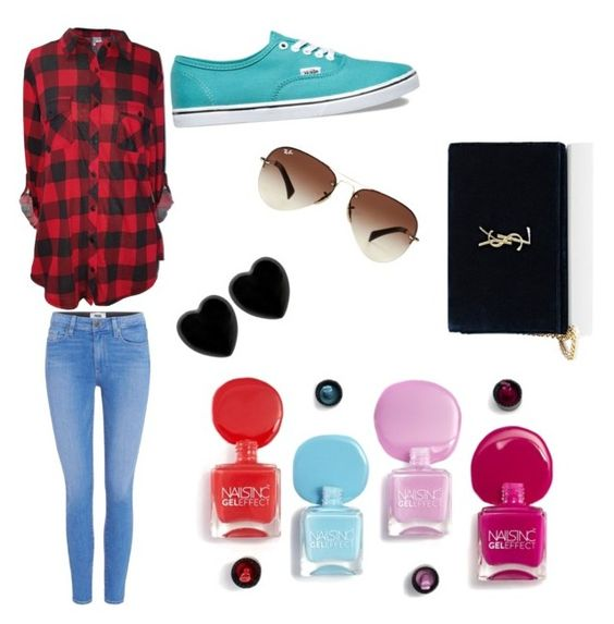 """""""Untitled #1"""" by perhaperha ❤ liked on Polyvore featuring interior, interiors, interior design, home, home decor, interior decorating, Paige Denim, Vans, Yves Saint Laurent and Ray-Ban"""