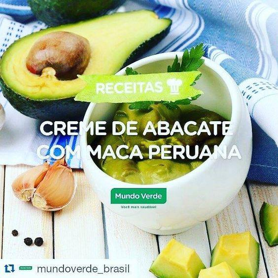 #Repost @mundoverde_brasil with @repostapp  Essa sobremesa tá louca pra ir pra sua mesa. Aprenda a fazer esse creme de abacate com maca peruana! Ingredientes: 1/2 abacate maduro 1/2 copo de iogurte natural desnatado 2 colheres (sopa) de Maca Peruana em Pó Mundo Verde Seleção 1 colher (sopa) de lascas de amêndoas Suco de 1 limão Adoçante a gosto Modo de preparo: Bata todos os ingredientes no liquidificador até formar um creme. Adicione o suco de limão e o adoçante. Coloque por cima as lascas…
