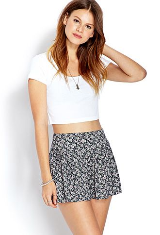 Dainty Floral Culottes | FOREVER21 - 2000126526