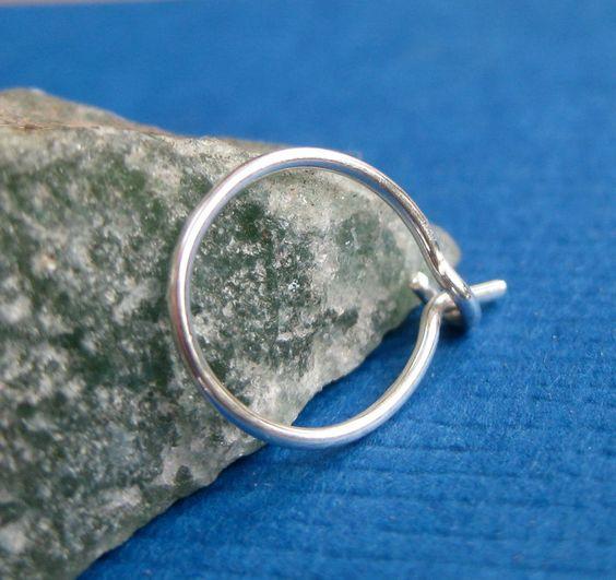 Single Hoop Cartilage Hoop Cartilage Earring by TwistedDesigns, $8.00