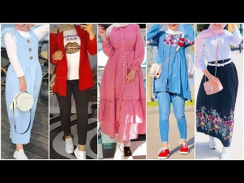 اجمل تنسيقات ملابس محجبات صيف 2019 2020 تنسيقات ملابس بنات صيف تنسيقات ملابس بنات للمدرسة والجامعة Youtube Hijabi Outfits Casual Soiree Dress Fashion