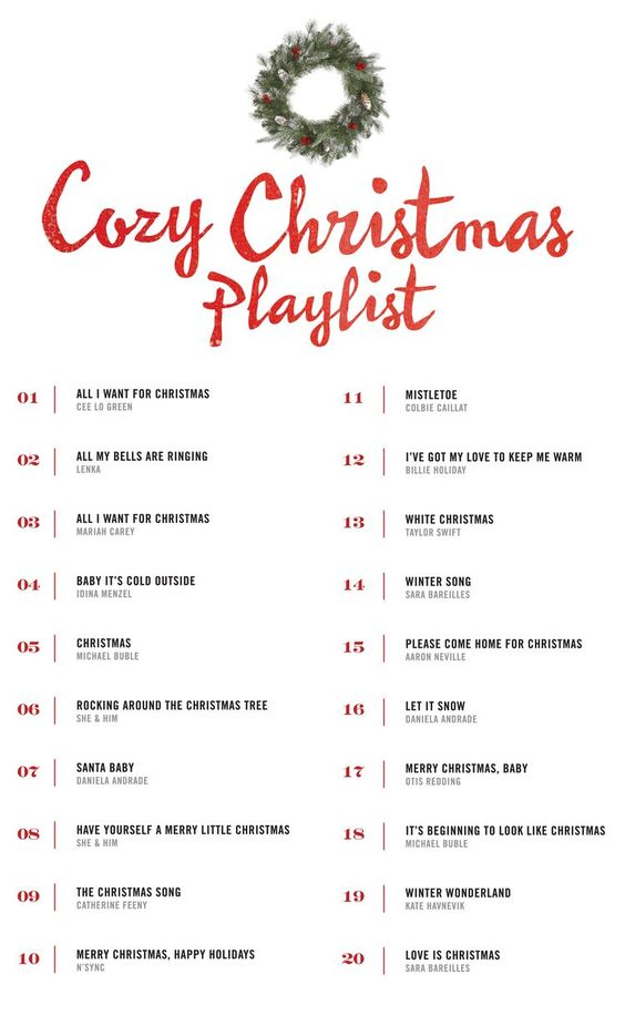 A cozy Christmas playlist to get you in the spirit of the holidays! More