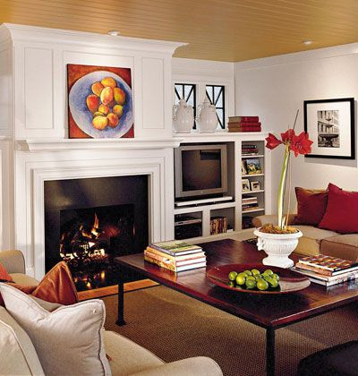 How to hide the tv stereo equipment and tv blending into Hide fireplace ideas