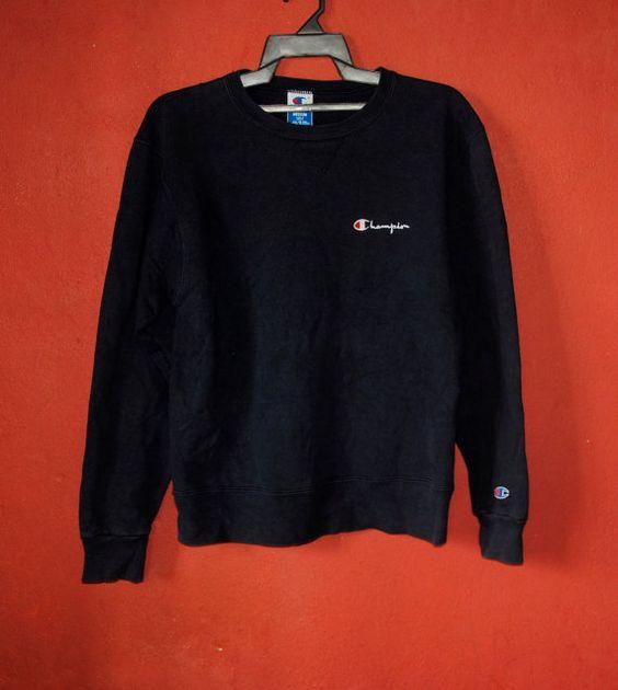 vintage des ann es 1990 champion sweatshirt taille medium vintage pull hipster nice design. Black Bedroom Furniture Sets. Home Design Ideas