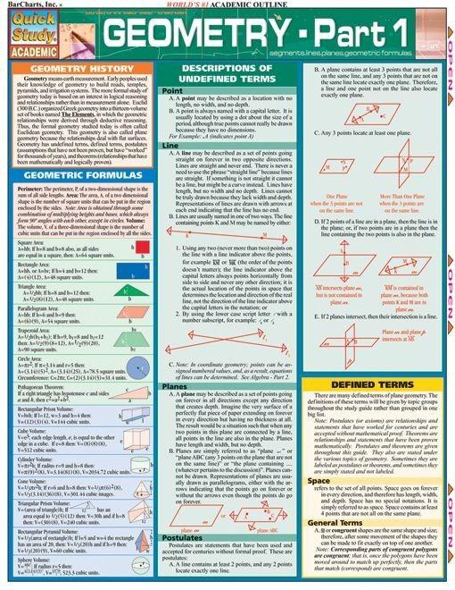 Geometry Part 1 Math Methods Studying Math Education Math