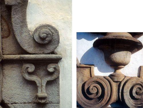 Detalhes da arquitetura barroca de Ouro Preto esculpidos em pedra sabão. A CASA • Museu do objeto brasileiro