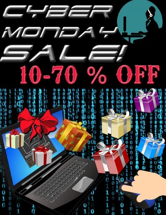 Cyber Monday Sale Customize This Design With Your Video Photos And Text Easy To Use Online Tool In 2020 Cyber Monday Art Cyber Monday Advertising Cyber Monday Ads