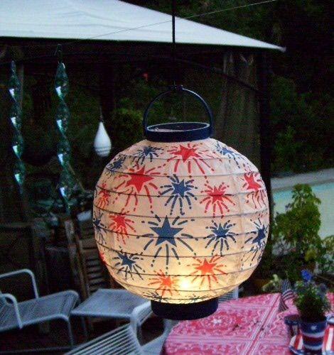 DIY patriotic lantern.