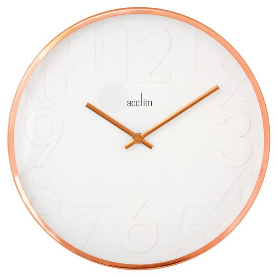 Acctim 27698 Rostock Wall Clock, Copper: Amazon.co.uk: Kitchen & Home