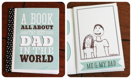 printable all about dad book from @eighteen25