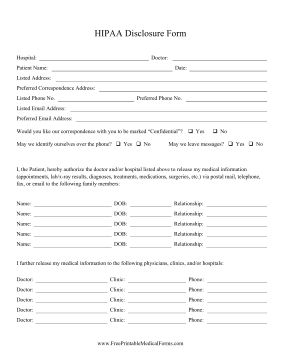 Patients can use this HIPAA form as a medical release to give ...