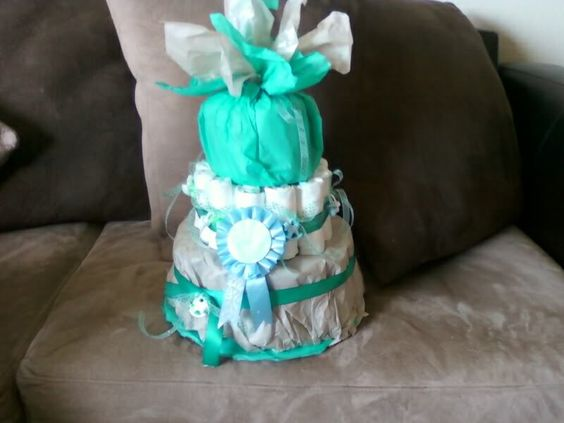 My first diaper cake for my lil cousin Brayson