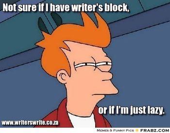 Writer's block homework