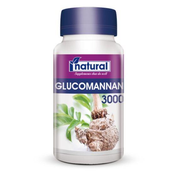 Abnehmen mit der Konjakwurzel in Glucomannan 3000