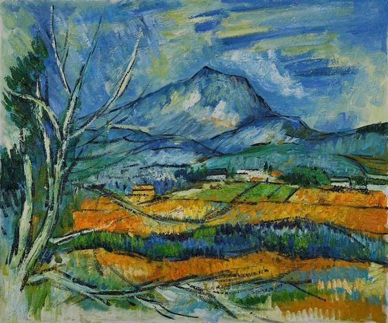 """Landscape Oil Painting 20*24"""" Paul Cezanne La Mont Sainte Victoire:"""