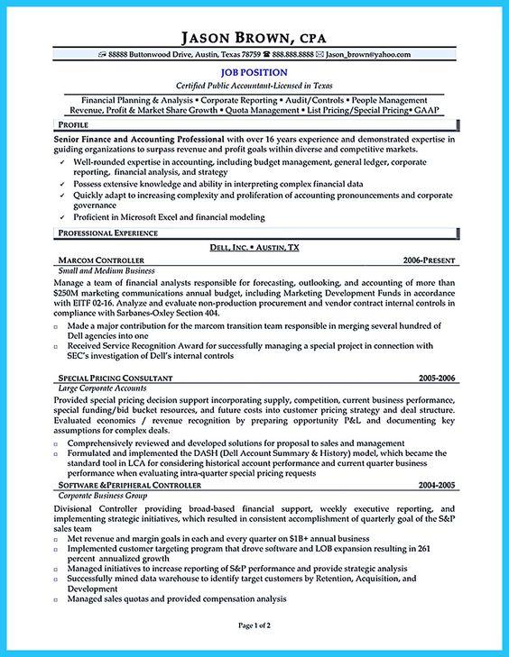 CFO Resume Sample Vice President of Finance, Director of Finance - certified financial planner resume