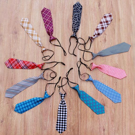 1pc Newborn Baby Small Tie Prop Photography Fabric Crochet Necktie Props #NIBOX