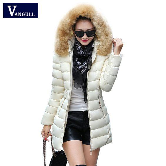 (Buy here: http://appdeal.ru/q1u ) 2016 New Arrival Winter Jacket Women Long Cotton Padded Zipper Winter Coat Large Fur Collar Hood Parka Women Parkas Slim Jacket for just US $31.22
