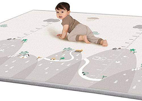 Amazon Com Rtway Baby Play Mat 79 X 71 Baby Crawling Mat Extra Large Reversible Playmat Waterproof Non Slip N Baby Crawling Mat Baby Play Mat Crawling Baby