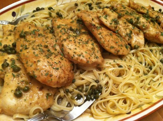 Chicken Piccata. DELICIOUS!  www.foodnetwork.com › Recipes › Chicken  Giada's recipe is delicious! Her video really helps too.