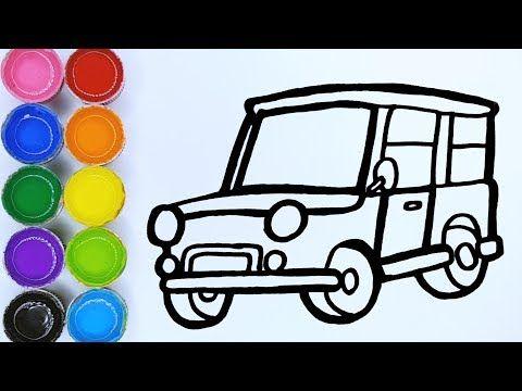 Rainbow Jeep Car Warna Warni Belajar Menggambar Dan Mewarnai Untuk